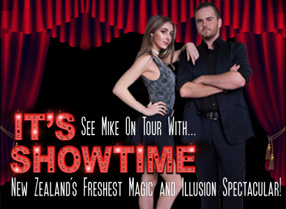 Touring magic and illusion show from professional auckland corporate magician mike lindsay, It's Showtime magic and illusion spectacular